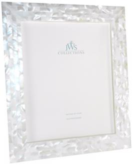 White Mother of Pearl 8x10 Photo Frame (W5091)