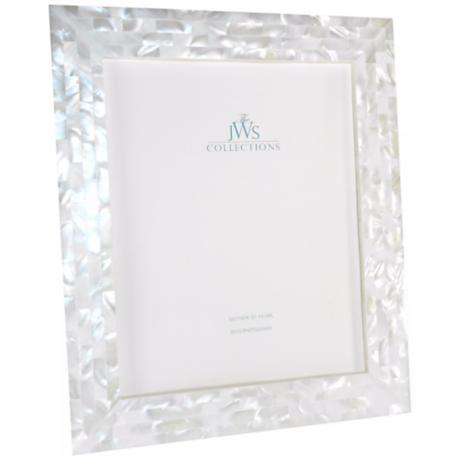 White Mother of Pearl 8x10 Photo Frame
