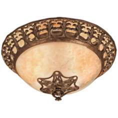 "Laurance Collection 21"" Wide Antique Gold Ceiling Light"