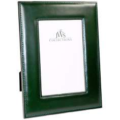 Green 4x6 Cowhide Leather Photo Frame