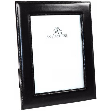 Black 5x7 Cowhide Leather Frame