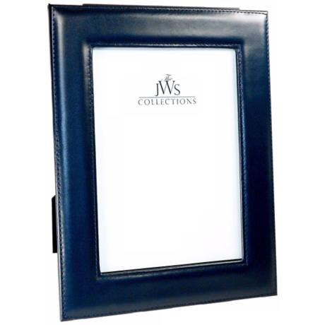 Navy 5x7 Cowhide Leather Picture Frame