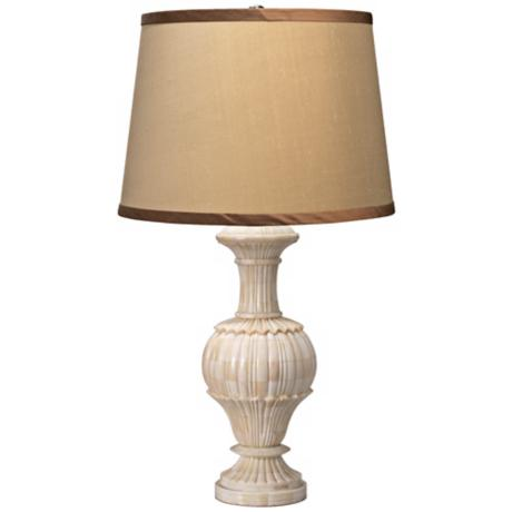 Jamie Young Carved Bone Urn Table Lamp