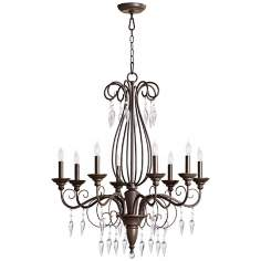 "Quorum Vesta 8-Light 29"" Wide Oiled Bronze Chandelier"
