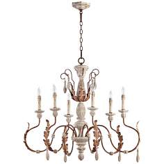 "Quorum La Maison 6-Light 35 1/2"" Manchester Grey Chandelier"