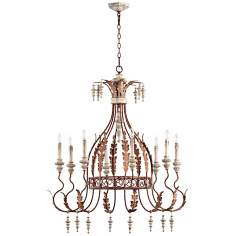 "Quorum La Maison 8-Light 34 1/2"" Manchester Grey Chandelier"