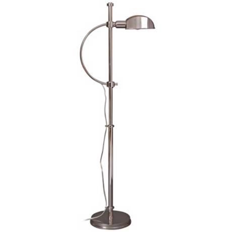 Lummo Rondo Polished Nickel Pharmacy Style Floor Lamp