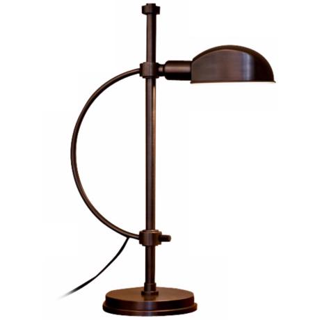 Lummo Rondo Bronze Pharmacy Style Desk Lamp