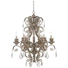 "Kathy Ireland 30"" Wide Metallic Silver Chandelier"