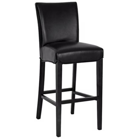 "London Bicast Leather 26"" High Black Counter Stool"