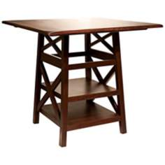"Dover Convertible Height 44"" Wide Wood Dining Table"