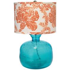 Jamie Young Jug Aqua Seeded Glass Table Lamp