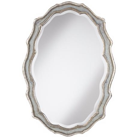 "Uttermost Dorgali 40"" High Silver Wall Mirror"
