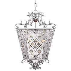 "Possini Euro Adelle 14""W Transitional Crystal Pendant Light"