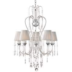 "Crystal Rain Collection 25"" Wide Chrome Pendant Light"