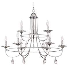 "Possini Euro Design 33"" Wide Crystal Drops Chandelier"