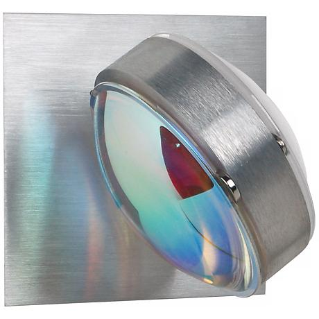 "Besa Optos 3 1/2"" Wide Aluminum Cool and Warm Wall Sconce"
