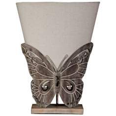Elizabeth Metal Butterfly Uplight Accent Table Lamp
