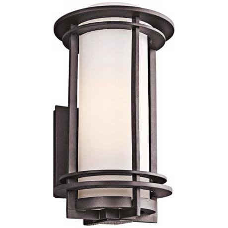 "Kichler Pacific Edge 16"" High Bronze Outdoor Wall Sconce"