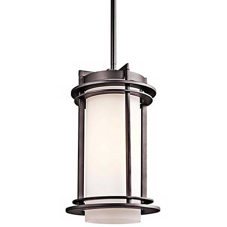 "Kichler Pacific Edge 13 1/2"" Bronze Outdoor Hanging Light"
