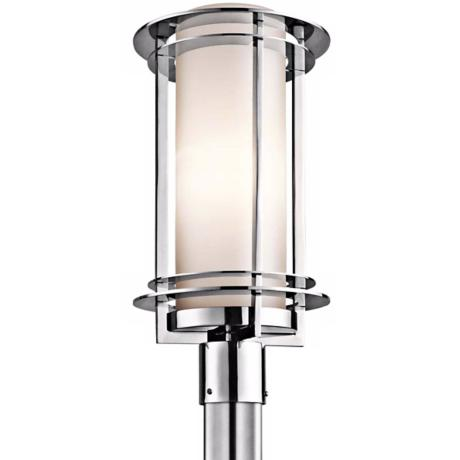 "Kichler Pacific Edge 19"" High Steel Outdoor Post Light"