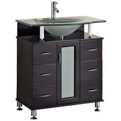"Huntington 30"" Wide Espresso Single Sink Vanity Set"