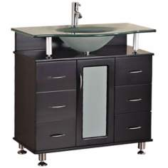 "Huntington 36"" Wide Espresso Single Sink Vanity Set"