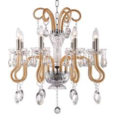 "Geneva 8-Light 24 1/2"" Wide Chrome Crystal Chandelier"