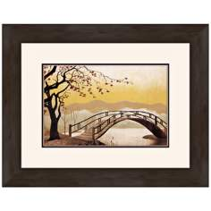 "Lady and the Tramp Bridge 19"" Wide Walt Disney Wall Art"