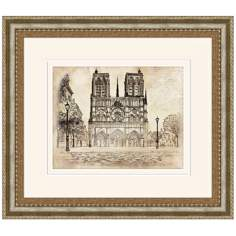 "Aristocats Cathedral 16 1/2"" Wide Walt Disney Wall Art"