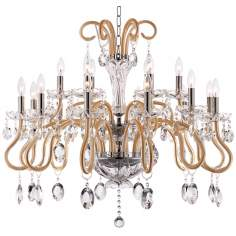 "Geneva 18-Light 35.5"" Wide Chrome Crystal Chandelier"