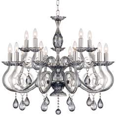 "Valenti 15-Light 31 1/2"" Wide Chrome Crystal Chandelier"
