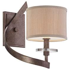 "Luzon Nickel 12 1/2"" High Savoy House Sconce"