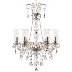 "Cecelia 6-Light 26 1/4"" Wide Clear Crystal Chandelier"