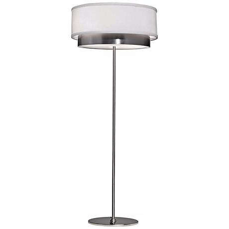 Artcraft Scandia Brushed Nickel Floor Lamp
