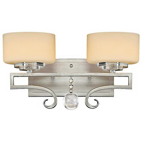 Rosendal Silver 2-Light 15 1/4 Wide Savoy House Sconce