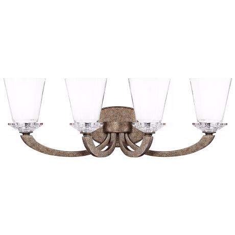 "Forum Gold Dust 4-Light 25"" Wide Savoy House Sconce"