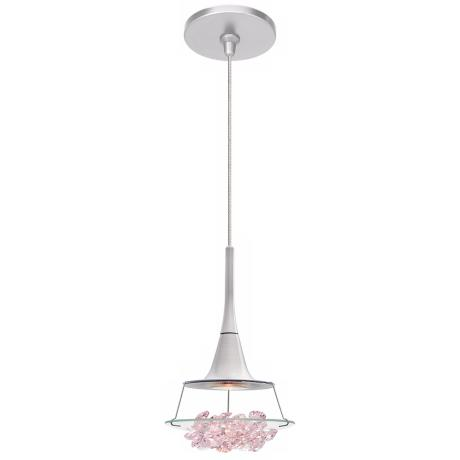 LBL Vision Purple Crystal Nickel Pendant Light