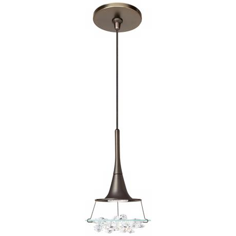 LBL Vision Clear Crystal Bronze Pendant Light