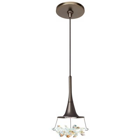 LBL Vision Prismatic Crystal Bronze Pendant Light