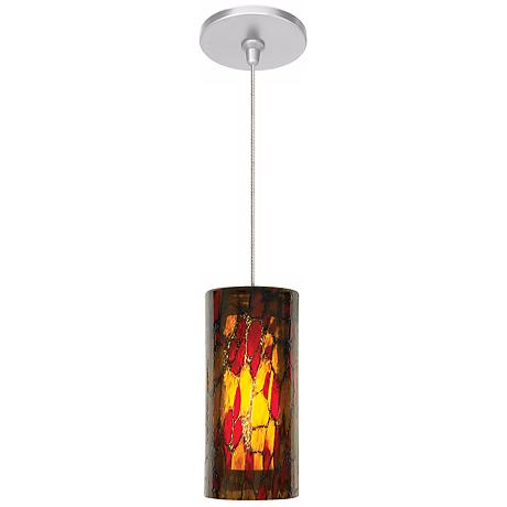 LBL Abbey Amber Red Nickel Pendant Light