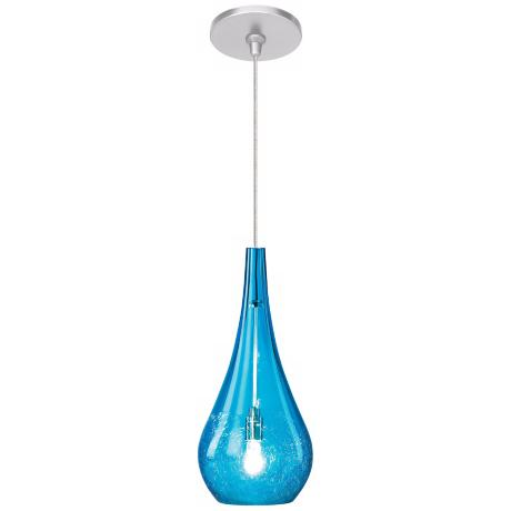 LBL Seguro Aqua Nickel Pendant Light