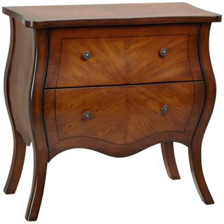 Lillian 2-Drawer Wood Grain Bombe Chest