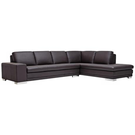 Callidora Dark Brown Leather Sofa Sectional
