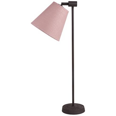 Lights Up! Zoe Rose Tweed Antique Iron Desk Lamp