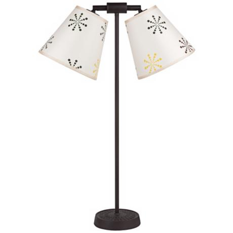 Lights Up! Zoe Twin Light Snowflake Desk Lamp