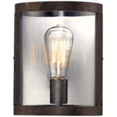 "Edison Bulb 8"" Wide Bronze Wall Sconce"