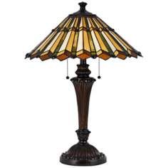 Accordion Shade 2-Light Tiffany Style Table Lamp