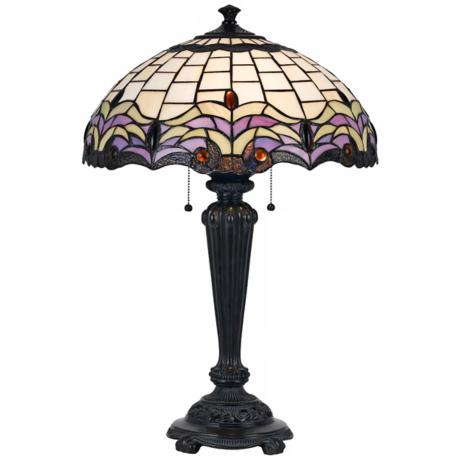 Chancel Tiffany Style Bronze Table Lamp