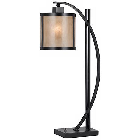 Natural Iron And Mica Table Lamp